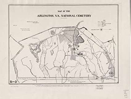 Amazon.com: 1901 Map of the Arlington, Va. National Cemetery - Size ...