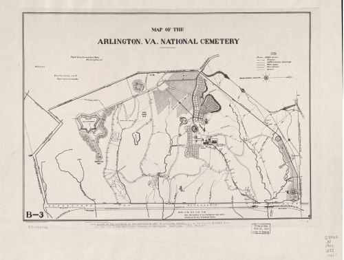 1901 Map of the Arlington, Va. National Cemetery - Size: 18x24 - Ready to Frame - Arlington - Arlington Va Women Women To