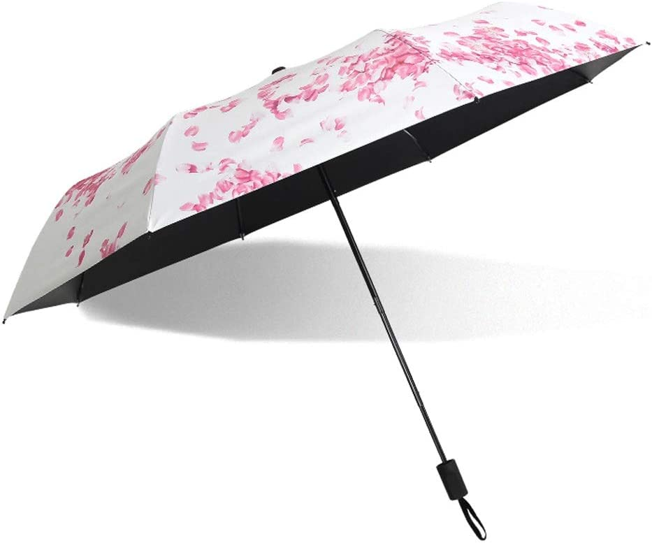 C.W.USJ Umbrella Outdoor Sun Umbrella for Women UV Protection Parasol Unbreakable Durable Lightweight Rubber Handle Color : 03Flower
