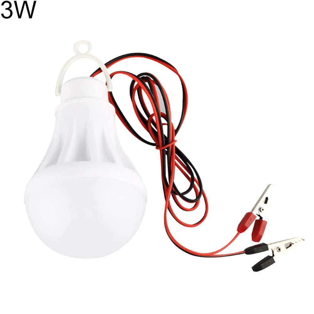 HEsdzML - Bombilla LED para coche (12 V, pinza de cocodrilo), 5W 12.0volts: Amazon.es: Iluminación