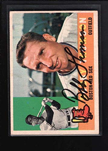 (1960 Topps #153 Bobby Thomson Authentic On Card Autograph Signature Ax5728 - Baseball Slabbed Autographed Cards)
