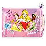 Disney Princess Autograph Book Featuring Cinderella, Belle, Aurora, Tiana, Jasmine, and Snow White Gemstone Topped Pen