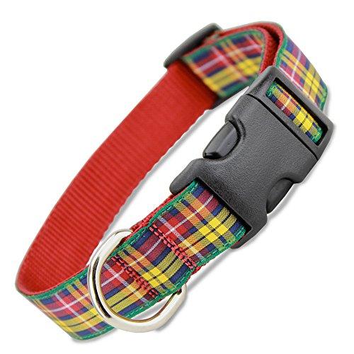 The Artful Canine Plaid Dog Collar, Buchanan Tartan, Small Dogs 11-22 lbs (Collar: 5/8 Wide, 8.5' - 13