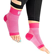 Plantar Fasciitis Night Splint Sock, wear it with insoles & shoes as splints/brace, while exercising with Fasciitis ball, used by women as inserts, shoe orthotics, heel cups in foot massager as compre