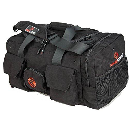 "(King Kong Original Nylon Gym Bag - Heavy Duty and Water-Resistant Duffle Bag - Military Spec Nylon- Heavy Duty Steel Buckles - 20"" x 12"" x 12"" - Black)"
