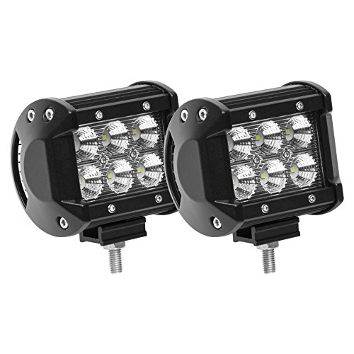 Eyourlife Led Light Pods, 18w Led Work Light Cree Led 4x4 Off Road Light Bar Pair 4 inch SUV Driving Headlight Flood Pods 2PCS