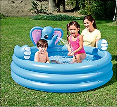 LCYCN Inflatable Pool Float,Round Inflatable Pools for Kids- Can Spray Water Children Pool Rafts Inflatable Ride-ons Water Toy from LCYCN
