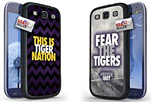 """Lifebox - Cool """"This is Tiger Nation"""" and """"Fear the Tigers"""" Chevron Sports Hard Case COMBO TWO PACK for Samsung Galaxy S3"""