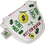 Foretra – Putt for Dough - Money Maker White Golf Putter Headcover Quality PU Leather Magnetic Closure for Mal