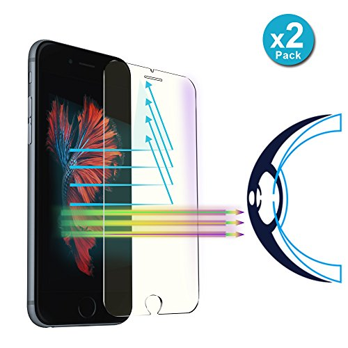 iPhone 8 Plus / 7 Plus Screen Protector, Villstar Tempered Glass Screen Protector Film Anti Blue Light Protect Eyes for iPhone 8 Plus 7 Plus, Case Friendly HD Anti Scratch - Blue Light Glasses Review
