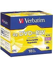 Verbatim Branded 4X DVD+RW Media 10 Pack in Jewel Case (94839)