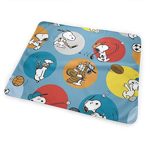 CFECUP Baby Changing Pad Snoopy Play Ball Soft and Absorbent Urine Pads 25.5