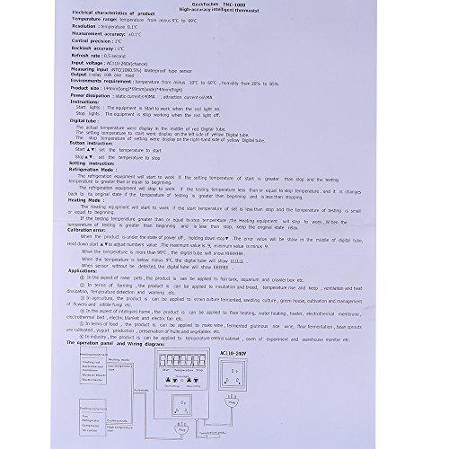 AC110-240V alta precisión Temperatura Electrónico Inteligente controlador de sensor TMC-1000: Amazon.es: Bricolaje y herramientas