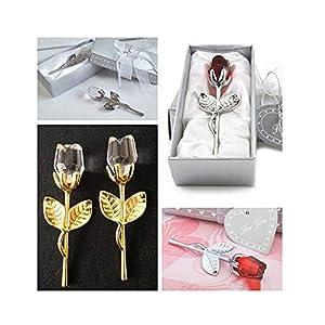 Sevem-D New Table Decoration Ornaments Crystal Glass Rose Flower Figurines Craft Wedding Valentine's Day 99