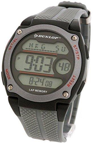 Dunlop DUN-70-G02 Reloj digital para hombre, de cuarzo con correa de caucho negra: Amazon.es: Relojes