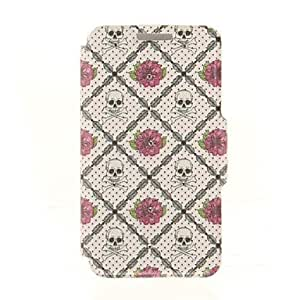 JAJAY Rose Skeleton Lattice Diamond Paste Pattern PU Leather Full Body Case with Stand for iPhone 6 Plus