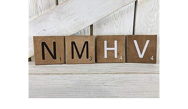 Derles Azulejos de Madera 3 Pulgadas para Decorar Azulejos de Scrabble, Azulejos de Scrabble y Letras de Scrabble: Amazon.es: Hogar