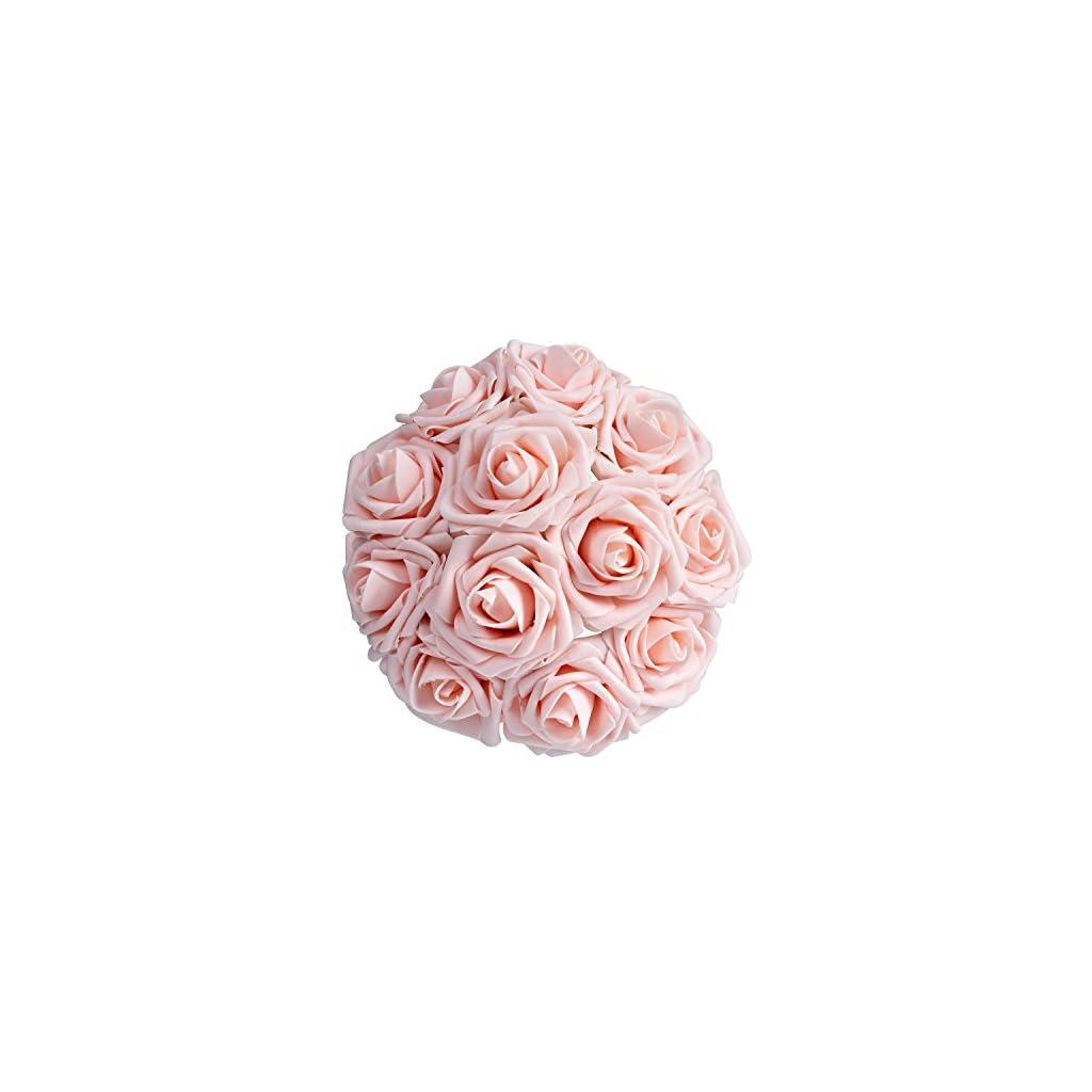 Breeze-Talk-Artificial-Flowers-Blush-Roses-25pcs-Realistic-Fake-Roses-wStem-for-DIY-Wedding-Bouquets-Centerpieces-Arrangements-Party-Baby-Shower-Home-Decorations