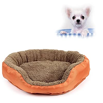 Forever Love Orange Dog Cat Pet Fleece Bed Warm Mat Small Size