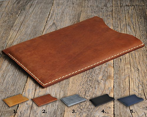 Leather Tablets Cover works with Lenovo Yoga, MIIX, Moto, 3, 2, 7, Essential, Plus, Pro, 300, 510, A10-70, A7, 10, 30, A8, Monogrammed Case, personalized Sleeve, Hand Sewn Rought Vintage Style Bag