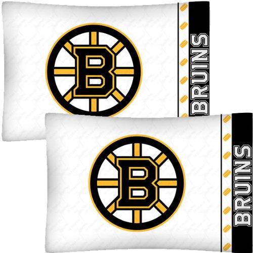 NHL Boston Bruins Hockey Set of 2 Logo Pillow Cases