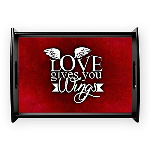 Large Serving Tray Love Gives You Wings by Truly Teague