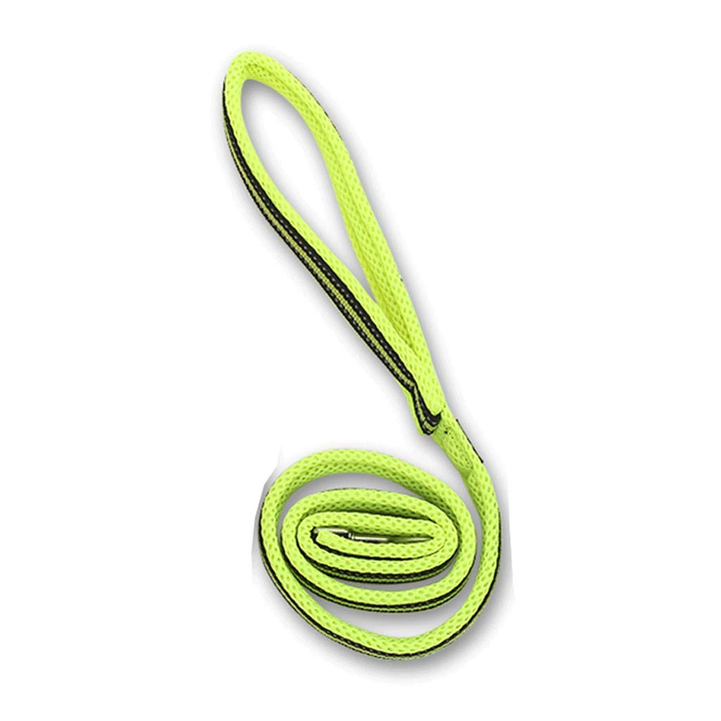 GREEN M GREEN M Medium and Large Pet Traction Rope Tensile Predection Hand Dog Walking Rope Black orange Green (color   Green, Size   M)