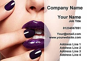 Amazon nail salon manicure pedicure purple personalized nail salon manicure pedicure purple personalized business cards colourmoves