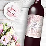 12 Love Faith Family Theme Wine / Beer Bottle labels Easy to Use Self Stick Labels