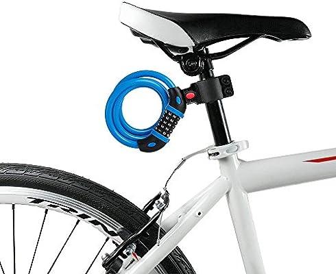 Bicicleta cadena de 5 dígitos combinación Seguridad Bloqueo de ...