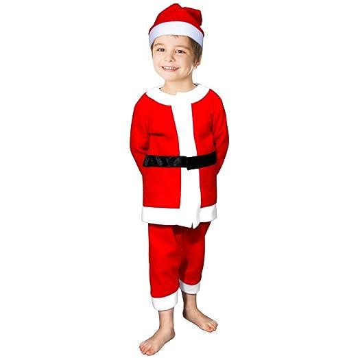 0d6c67704a6 Amazon.com  fedio Child Boy s 3Pcs Santa Suit Costume with Claus Hat for  Boys Ages 3-6  Toys   Games