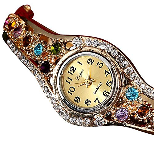 - Barhalk/American Warehouse Shippment Exquisite Wristwatch Colorful Diamond Inlaid Watch Bohemia Style Watches Women's Fashion Watch Jewelry for Anniversary Party Birthday Graduation Prom