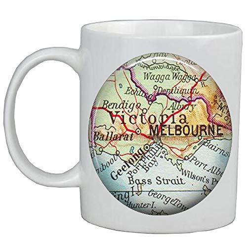 Fashion Coffee Mug,Melbourne map Coffee Mug,Melbourne map Mug,Melbourne Coffee Mug,Melbourne Mug,A0260