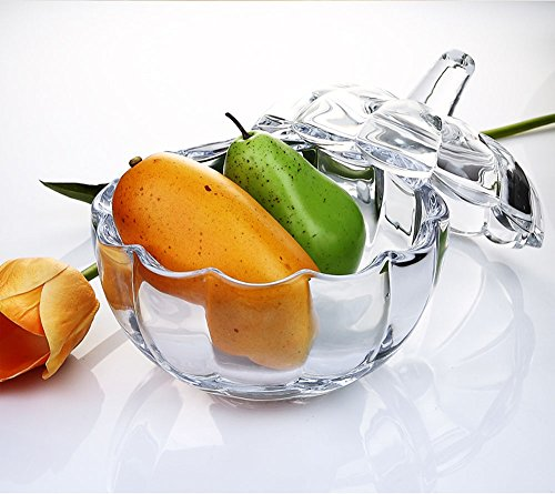 MISS TUTU Pumpkin Shape Crystal Glass Snack Jar Sugar Pot Storage Lid by MISS TUTU (Image #4)