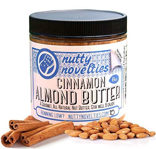 Nutty Novelties Cinnamon Almond Butter - High Protein, Sweet Almond Butter - All-Natural, Light Almond Butter Free of Cholesterol & Preservatives - Pure Almond Butter - 8 Ounces