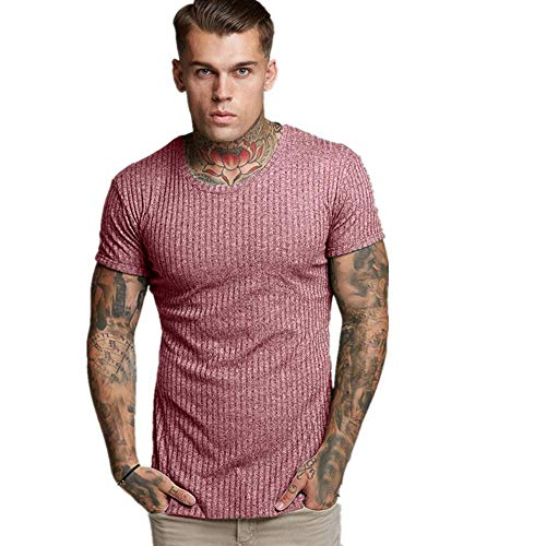 Denim Pants Energie (KINGOL Mens Fashion Casual Slim Fit Short Sleeve Sports t-shirtsTop Blouse Red)
