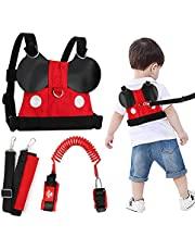 Lehoo Castle Toddler Leash for Walking, Toddler Safety Harnesses Leashes, Safety Harness with Lock for Kids, Anti Lost Wrist Link Safety Wrist Link for Toddlers (Red02)