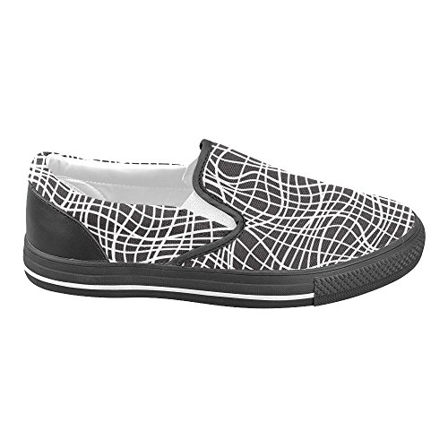D-story Abstract Seamless Grid Mujer Slip-on Canvas Zapatos Moda Sneaker