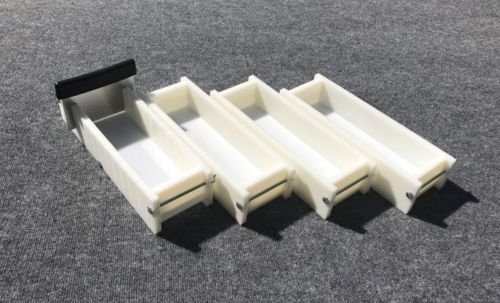 Lot of 3 HDPE Soap Loaf Making Mold and Multi Slot Soap Cutter 3 - 4 lb per mold by GDD