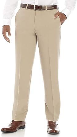 Amazon Com Nautica Pantalones De Vestir Para Hombre De 4 Vias Elasticos Con Espiga Clothing