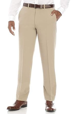 fb67610a Nautica Men's 4-Way Performance Stretch Herringbone Dress Pant (Tan, 32W  X30L)