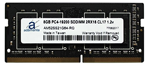 Adamanta 8GB (1x8GB) Laptop Memory Upgrade for Dell Alienware, Inspiron, Precision & XPS DDR4 2400Mhz PC4-19200 SODIMM 2Rx16 CL17 1.2v RAM DRAM by Adamanta Memory