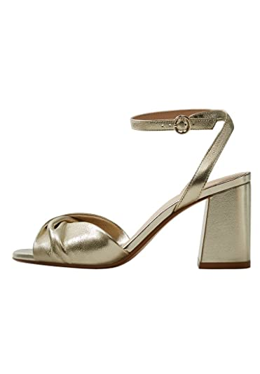 MANGO Metallic leather sandals HsC9zEA