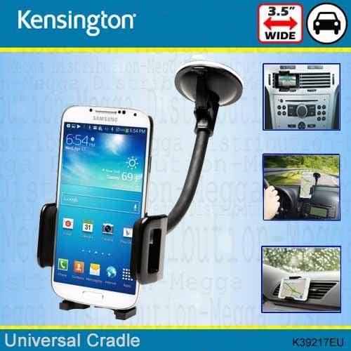 Kensington Universal teléfono móvil soporte de coche soporte para coche Air Vent y parabrisas – para Smartphones de hasta 3,5