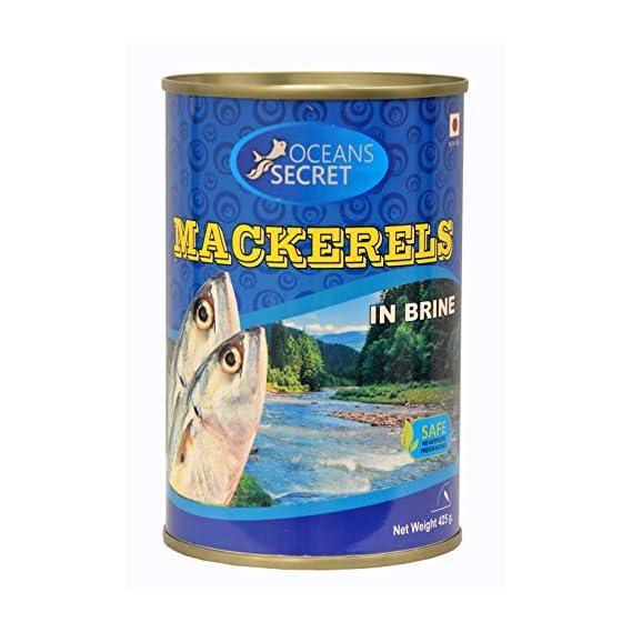 Oceans Secret - Canned Mackerels in Brine, 425g (Pack of 2)