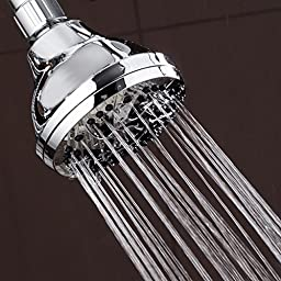 AquaDance Shower Head with 6-Setting, Chrome Finish