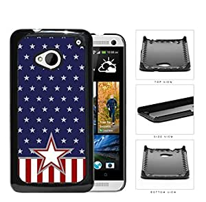 4th Of July The American Stars Hard Plastic Snap On Cell Phone Case HTC One M7 by kobestar