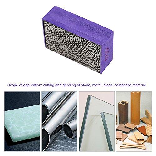 Zerodis 60-400 Grit Diamond Hand Polishing Pads Hand Sanding Pad Diamond Stone Sharpener Stone Marble Glass Granite(#400) by Zerodis (Image #5)