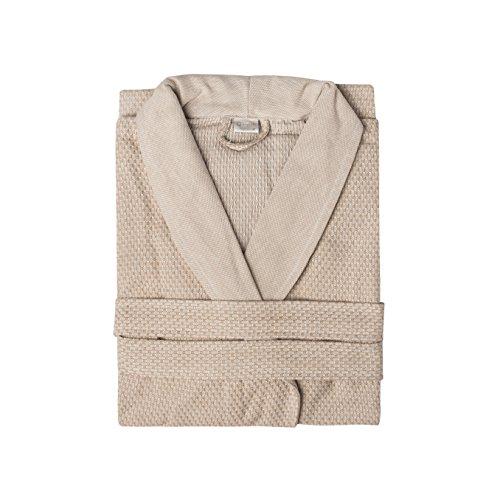 DolceMora Simple Life Waffle - Kimono multiusos, talla S, color gris piedra Lino natural