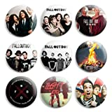 fall out boy merchandise - Fall Out Boy Pinback Buttons Pin Badges 1 Inch (25mm) - Pack of 9